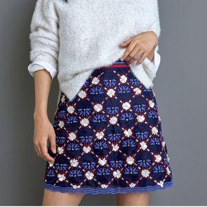 Maeve Mayfair beaded mini skirt NWT